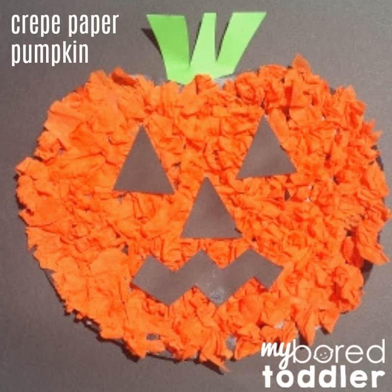 crepe paper pumpkin feature