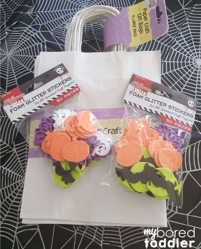 halloween sticker trick or treat bags what you need