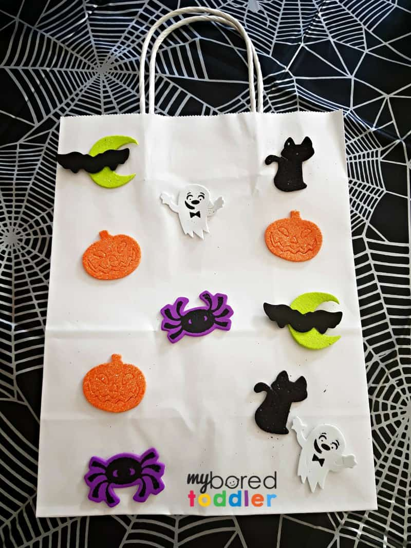halloween trick or treat bag with logo
