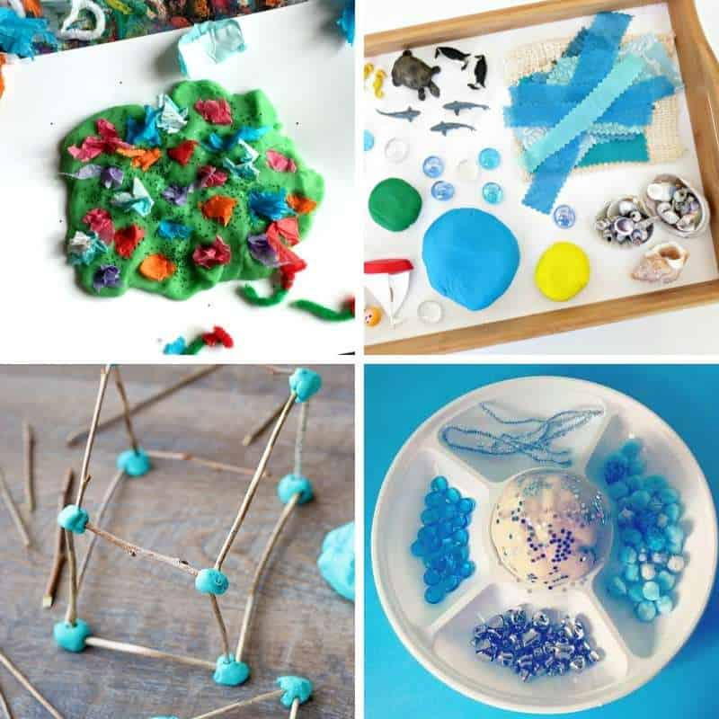 playdough invitations to play for toddlers