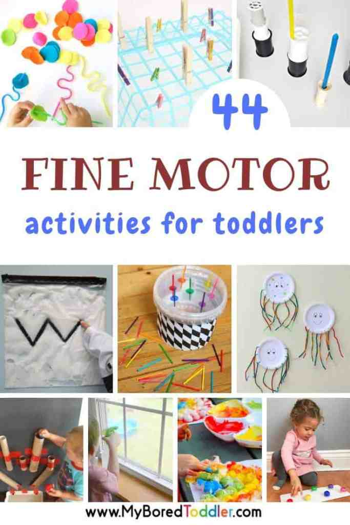 44 fine motor activities for toddlers - My Bored Toddler