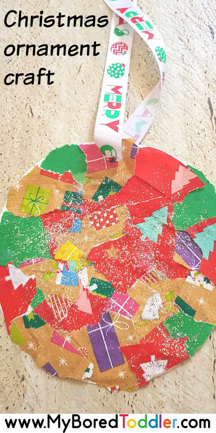 easy christmas ornament for toddlers pinterest