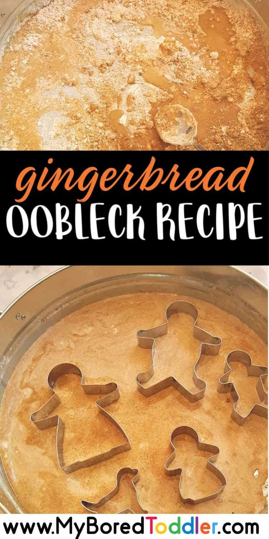 gingerbread oobleck recipe pinterest