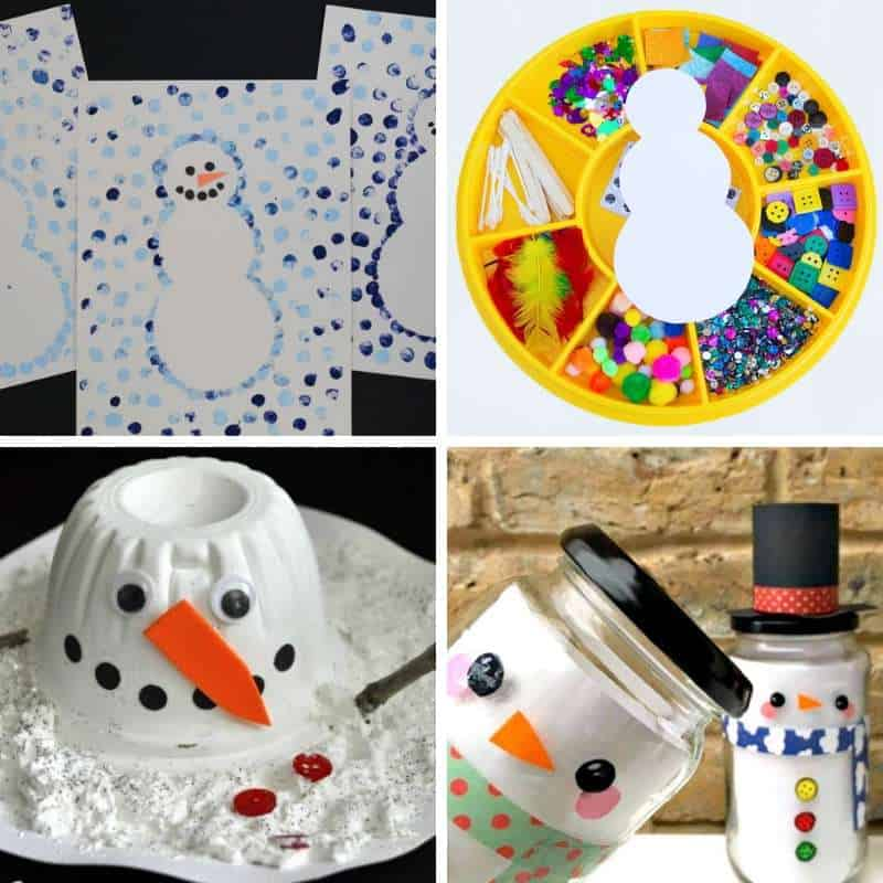 snowman craft ideas for toddlers