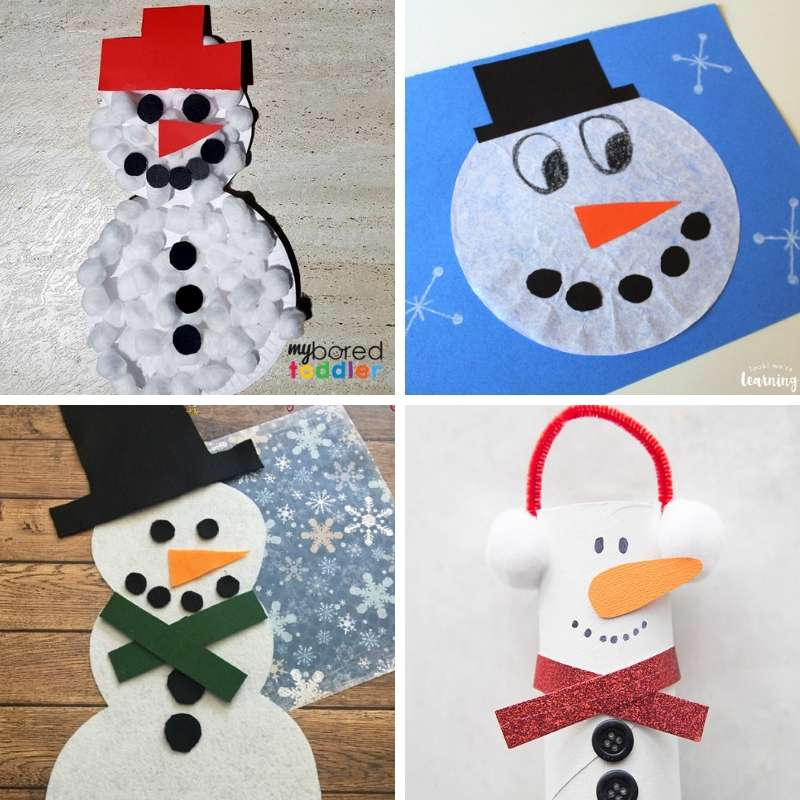 Snowman Crafts and Activities for Toddlers