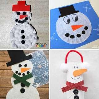 snowman craft ideas for winter