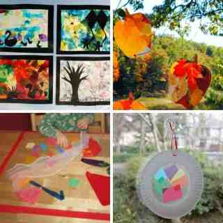 sticky paper art projects for toddlers