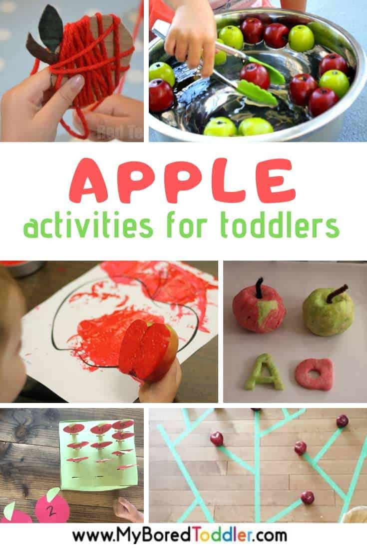 Apple Themed Activities for Toddlers - Crafts, Fine and Gross Motor, Learning and More