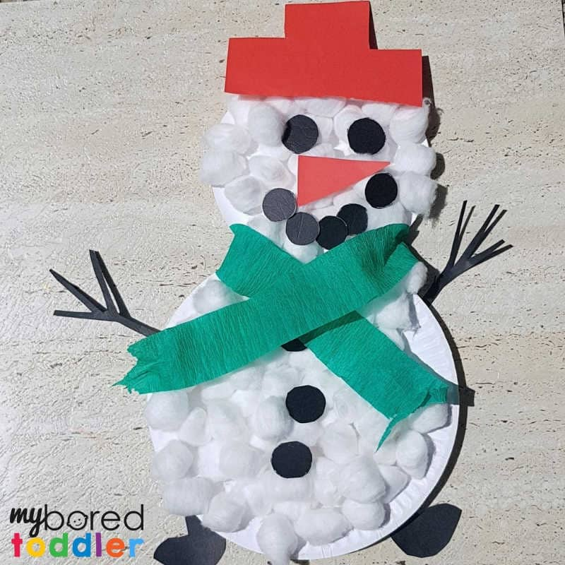 paperplate snowman craft finished logo