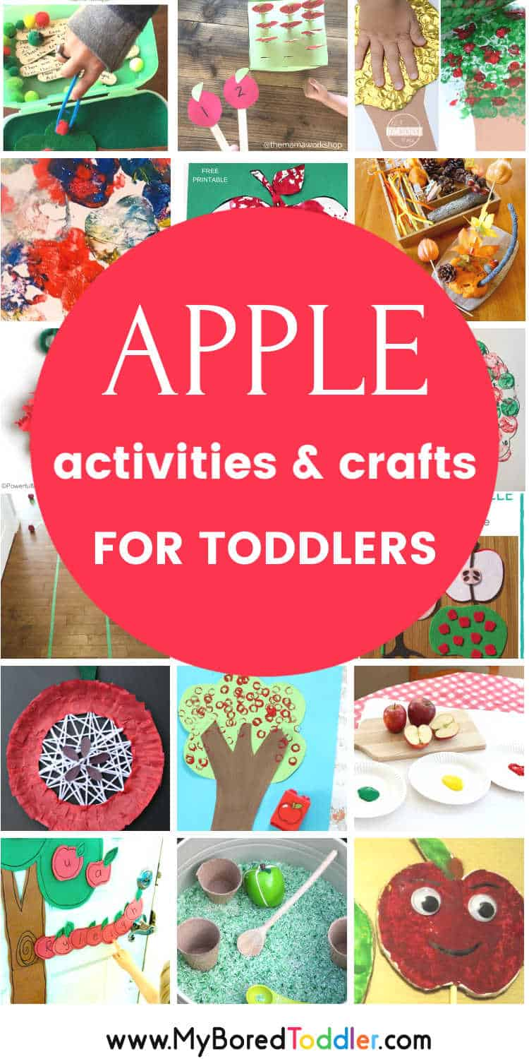 apple crafts and activities for toddlers and preschoolers