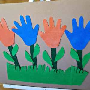 Felt Handprint Flowers