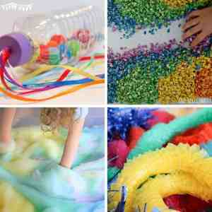 Rainbow Sensory Play Ideas for Toddlers