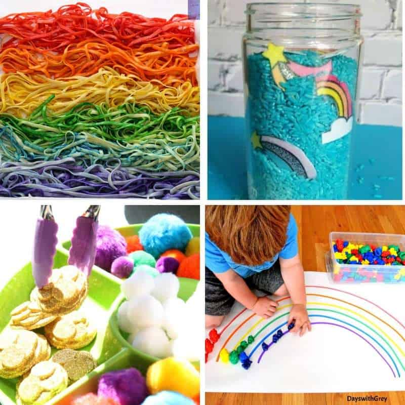 rainbow sensory activities for spring