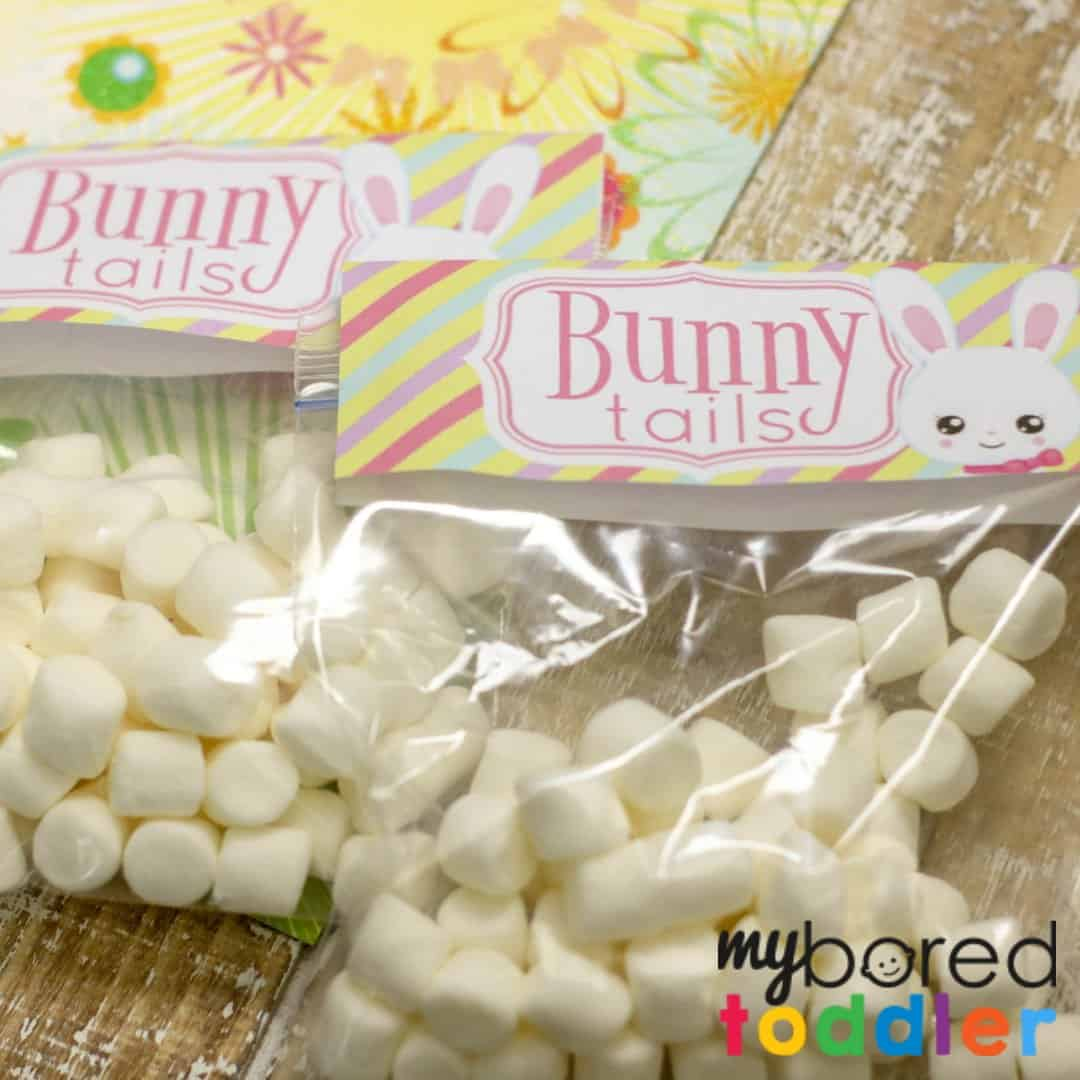 picture relating to Free Printable Treat Bag Toppers identified as Easter Bunny Tails - Absolutely free Printable Handle Baggage for Easter