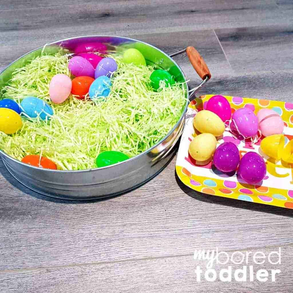 easter egg sensory bin color hunt on the plate easter egg sensory bin for toddlers