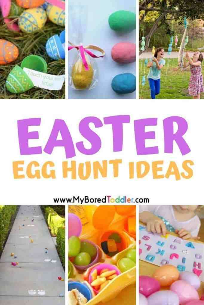Easter egg hunt and scavanger hunt ideas for toddlers and preschoolers