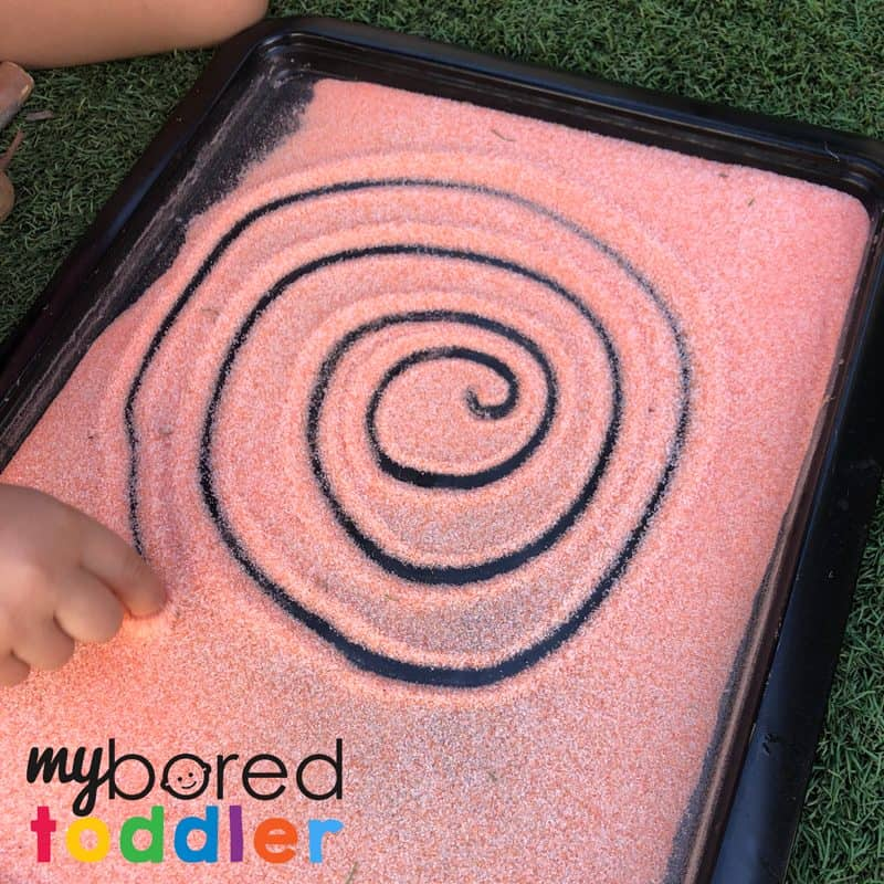 Sensory Salt Drawing