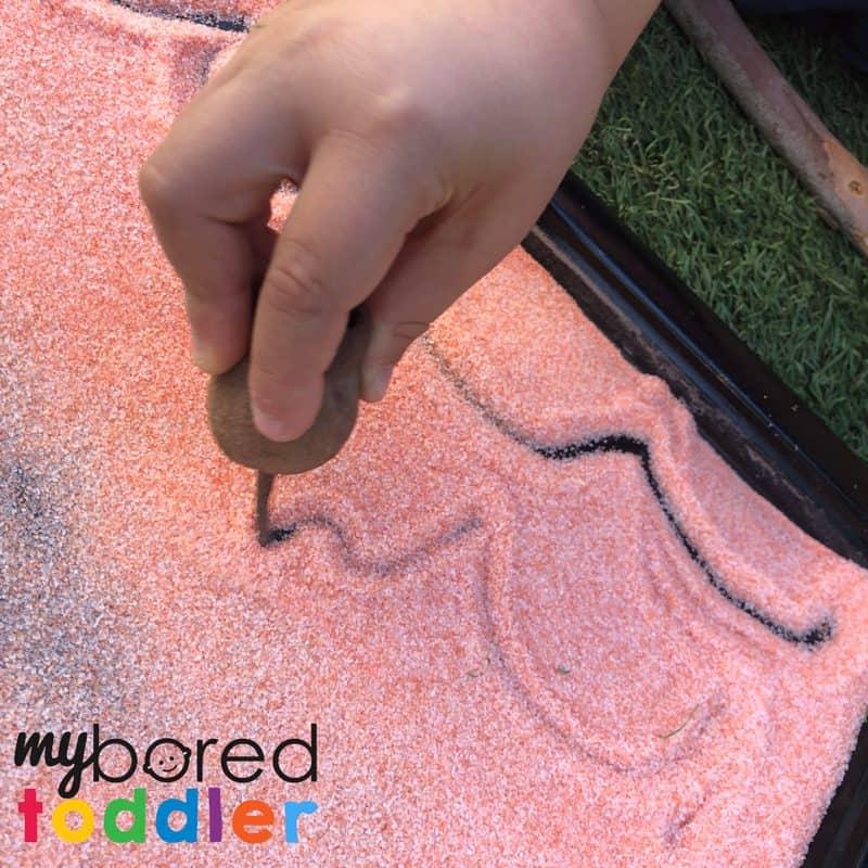sensory salt dough drawing fine motor skills toddler activity