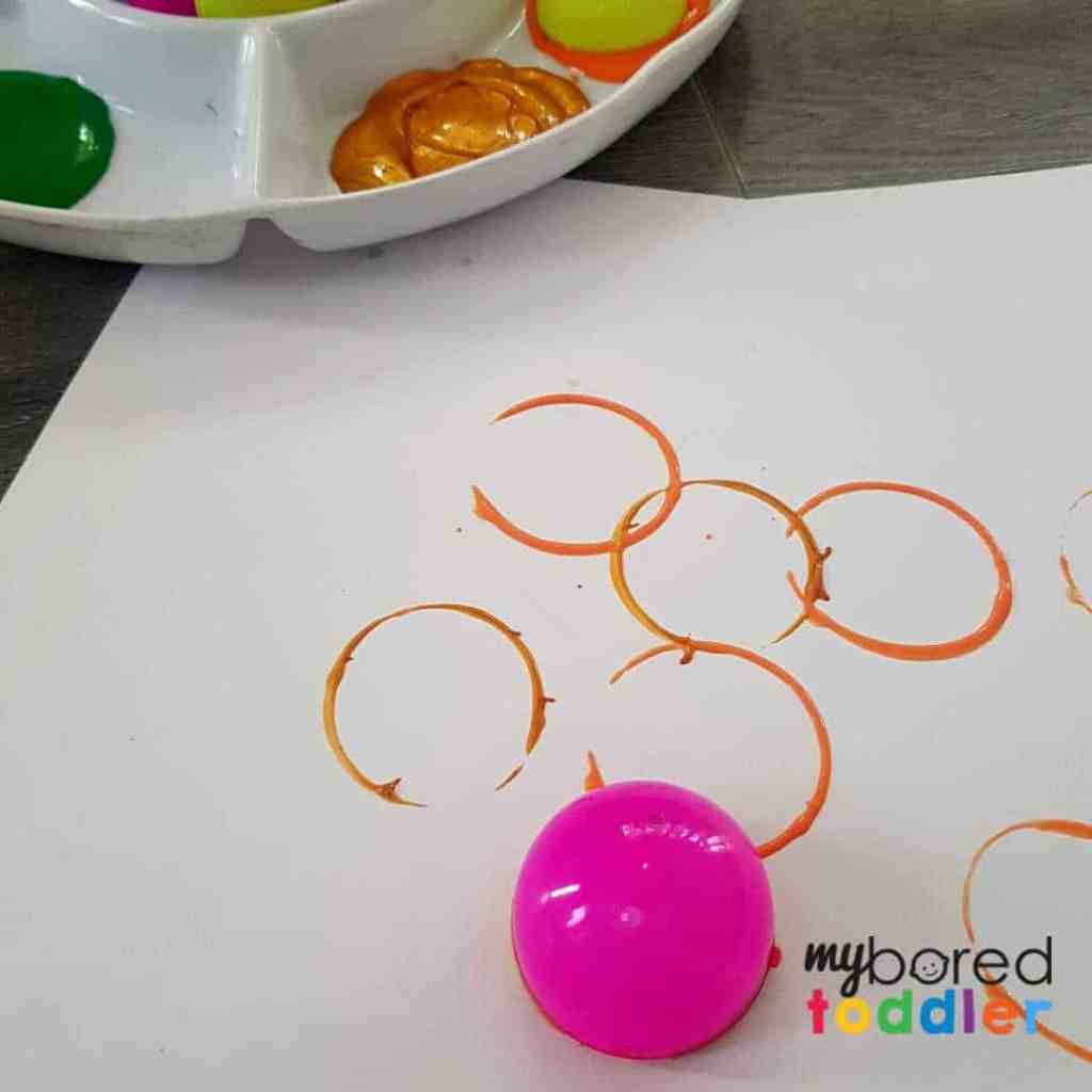 easter egg painting craft for toddlers step 1