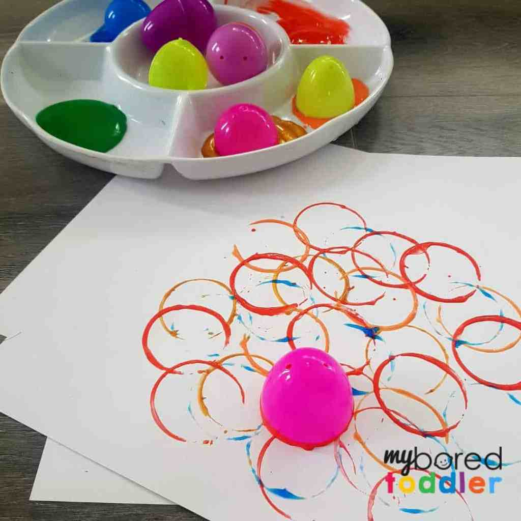 Plastic Easter Egg Printing for Toddlers