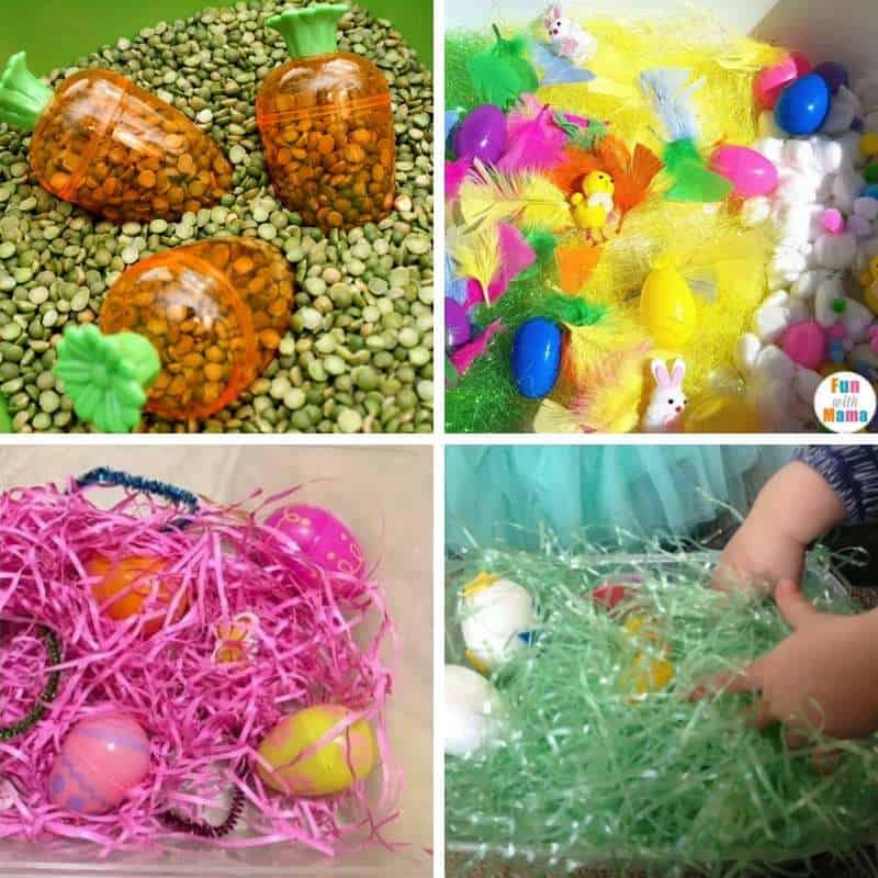 easter sensory play for toddlers