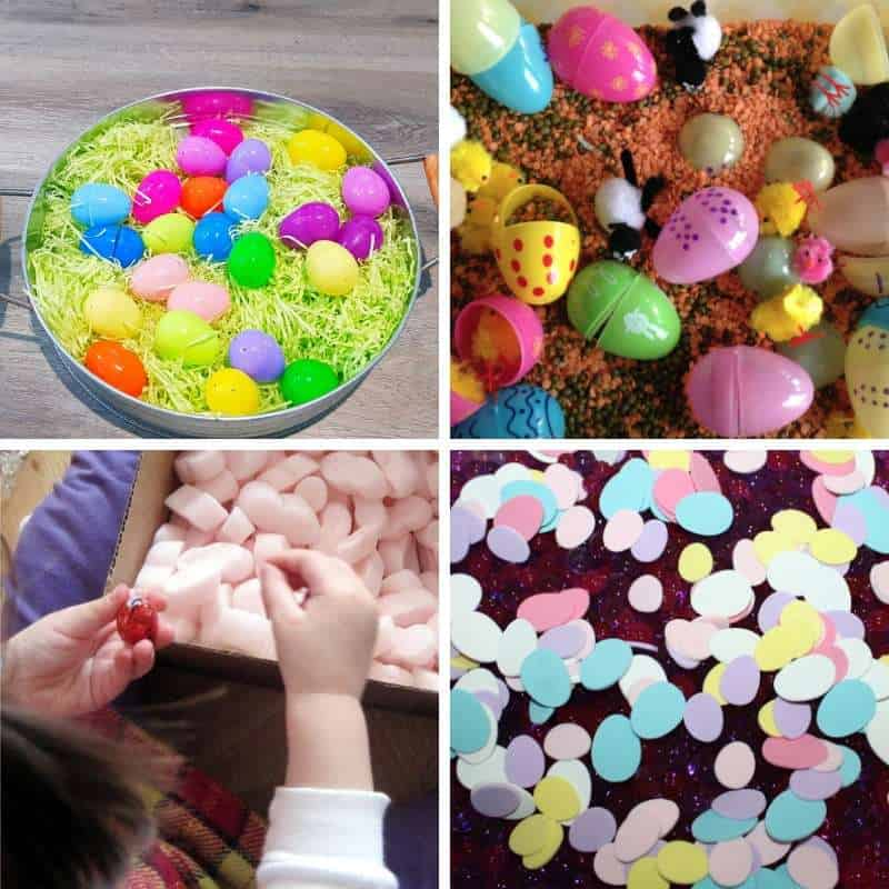 sensory play for easter holidays