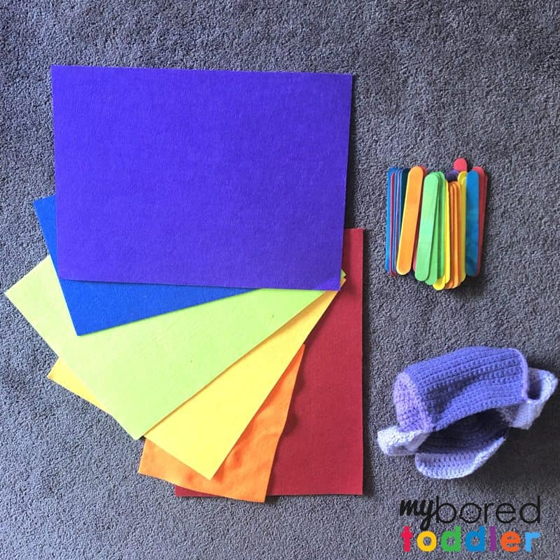 colour sorting activity for toddlers what you need
