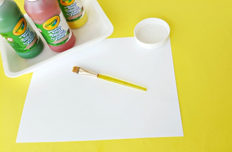Supplies for hand print craft