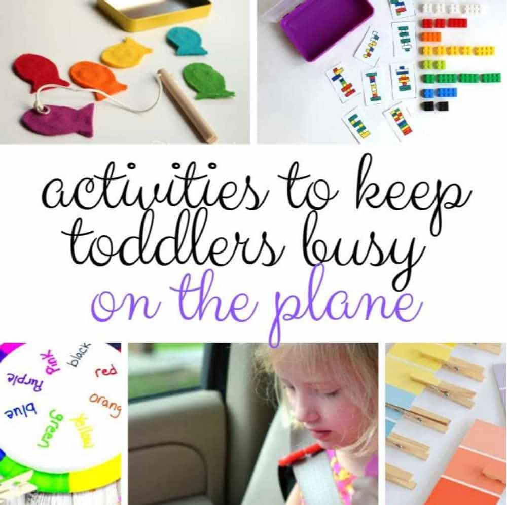 Activities to keep your toddler busy on a plane