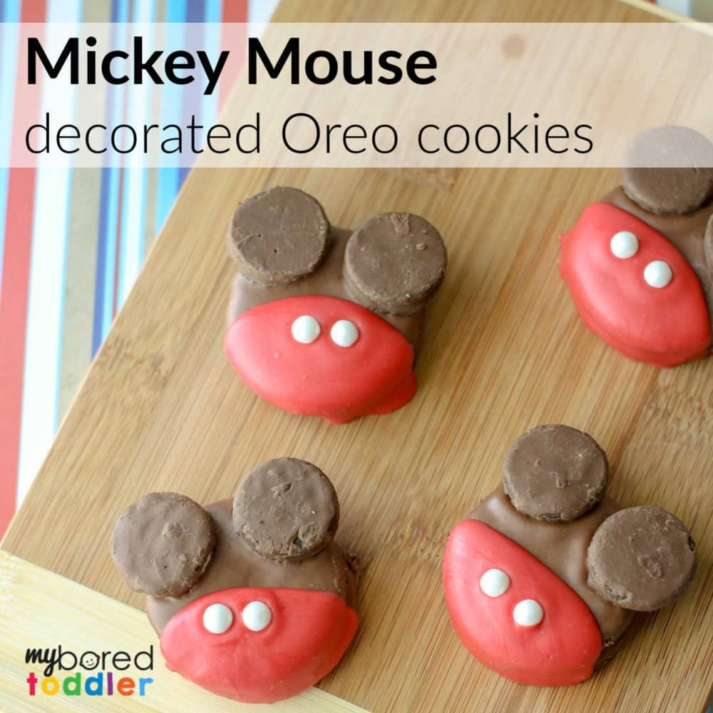Mickey Mouse Decorated Oreos