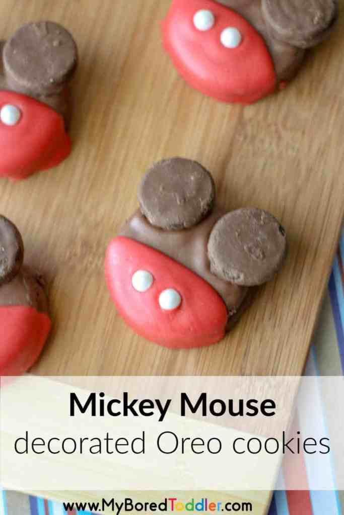 Mickey Mouse decorated oreo cookies pinterest