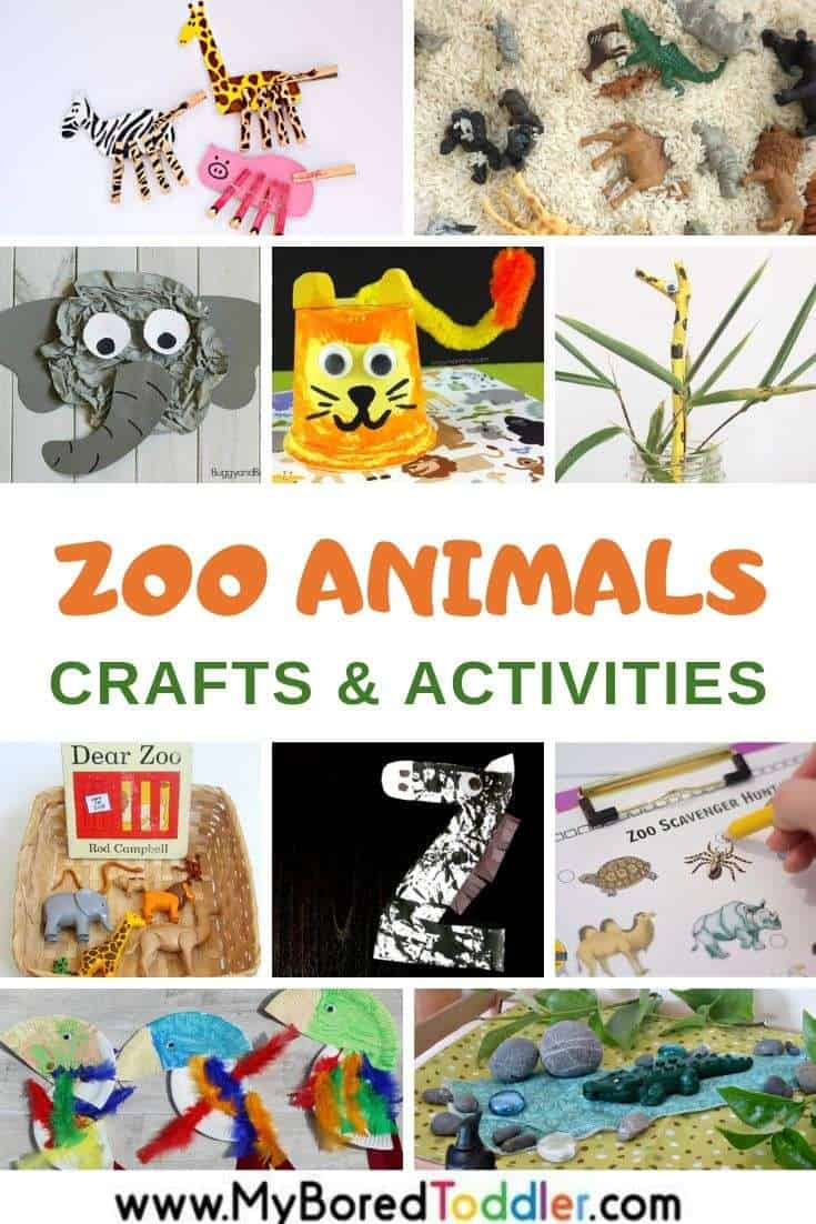 Zoo animals crafts and activities for toddlers
