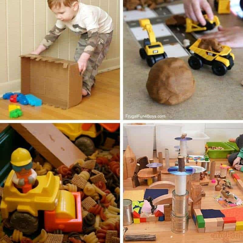 constuction sensory play