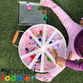sensory pom pom rescue fine motor play activity for toddlers