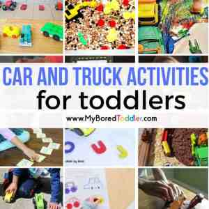 Car and Truck Themed Toddler Activities