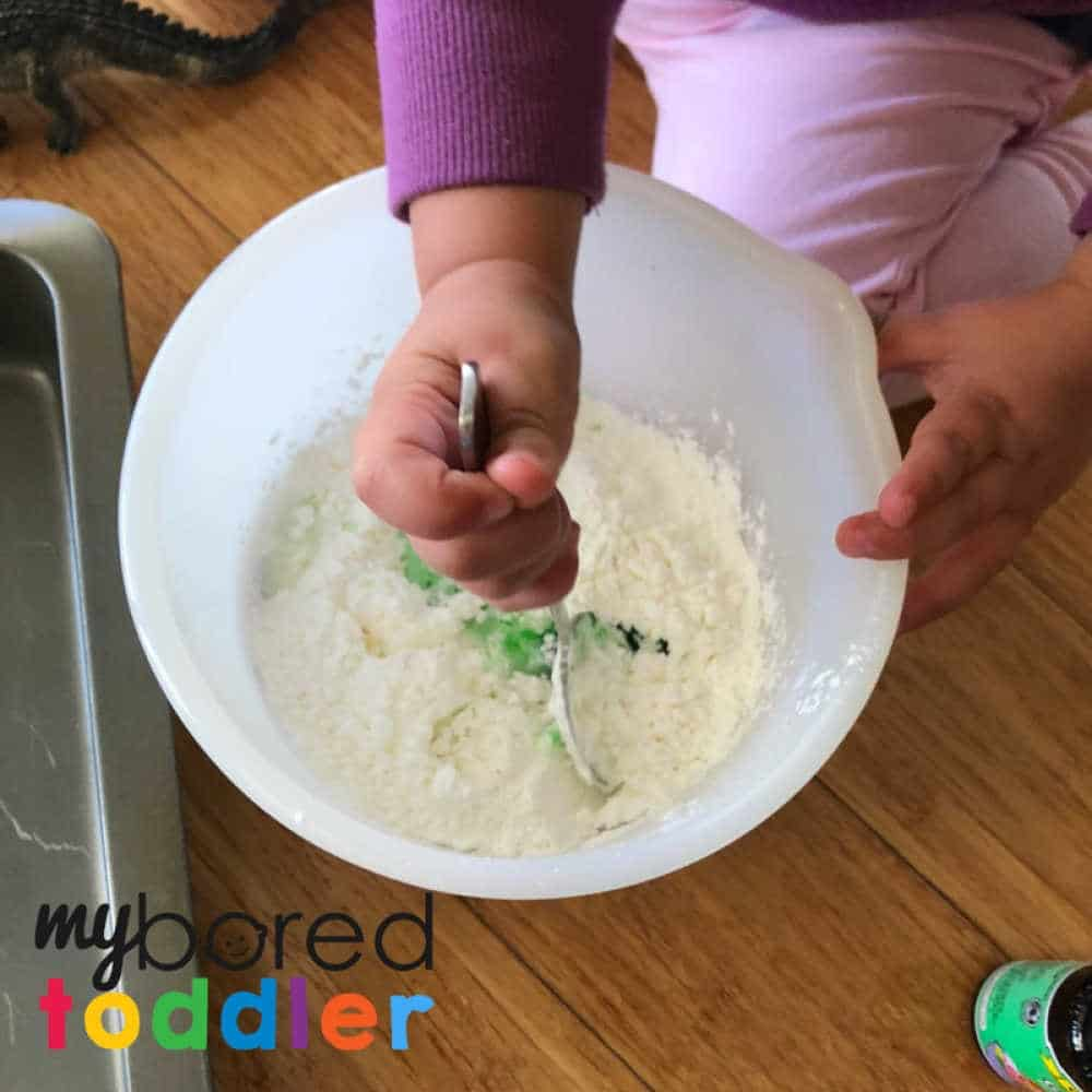 sensory crocodile swap sensory play with oobleck messy play 1