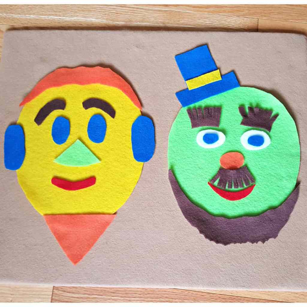Silly Faces on the Felt Board – Toddler Activity Idea