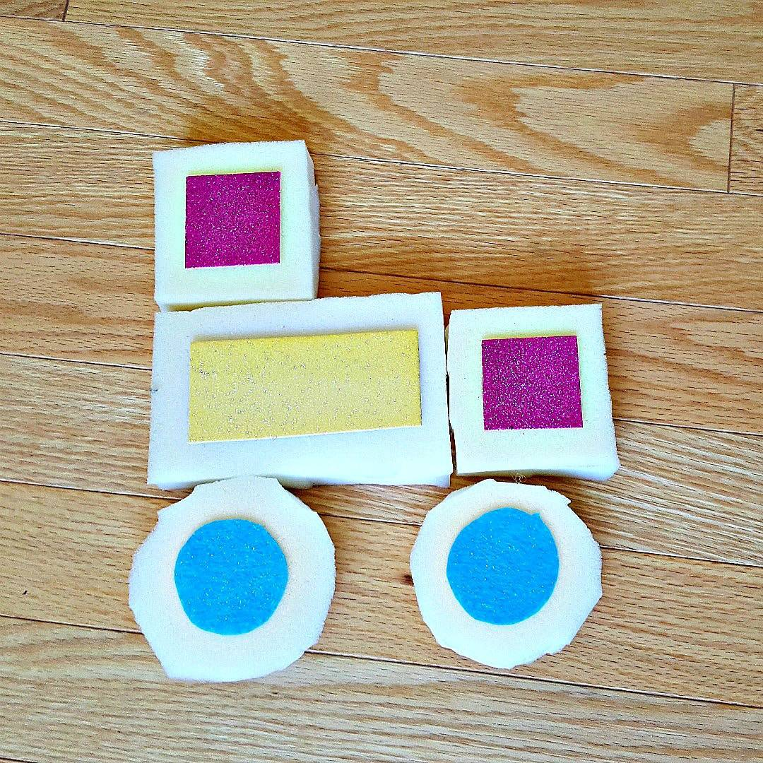 Tractor made with foam blocks