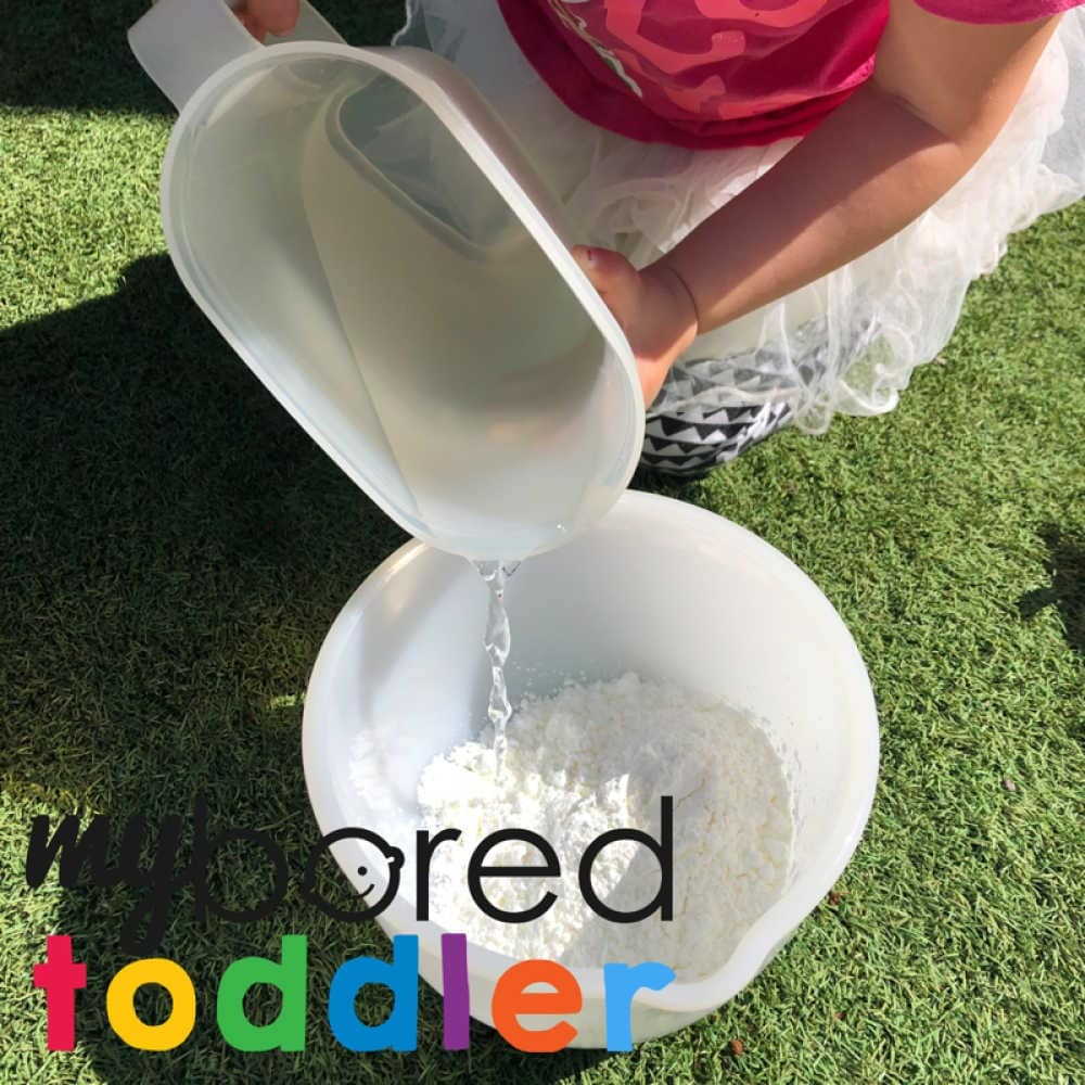 oobleck messy play for toddlers colors 1