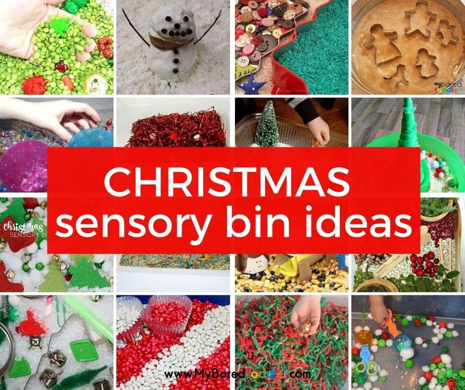 Christmas Sensory Bins for Toddlers
