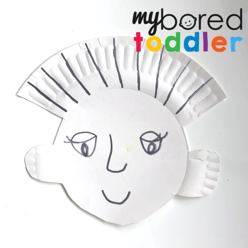 paper plate haircuts - cutting and scissor skills for toddlers and preschoolers