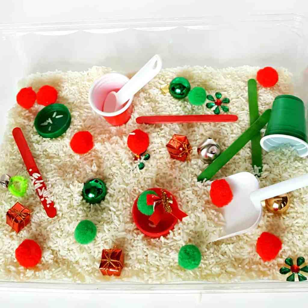 Christmas Colors Sensory Bin