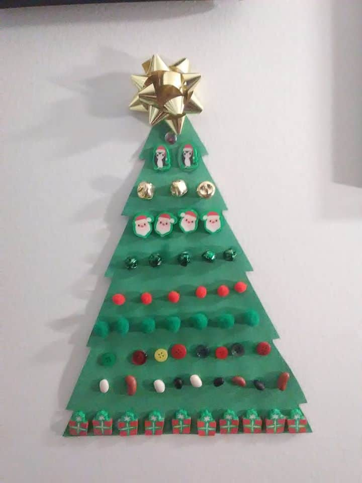 easy christmas tree craft for toddlers