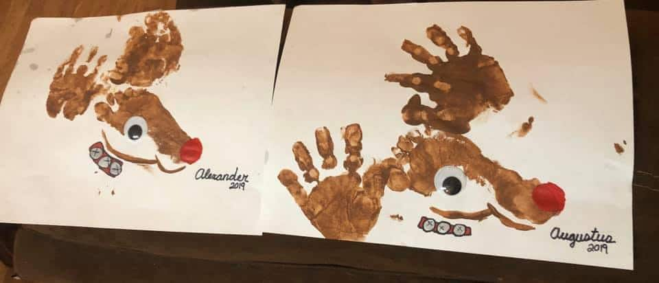handprint and footprint rudolph paintings