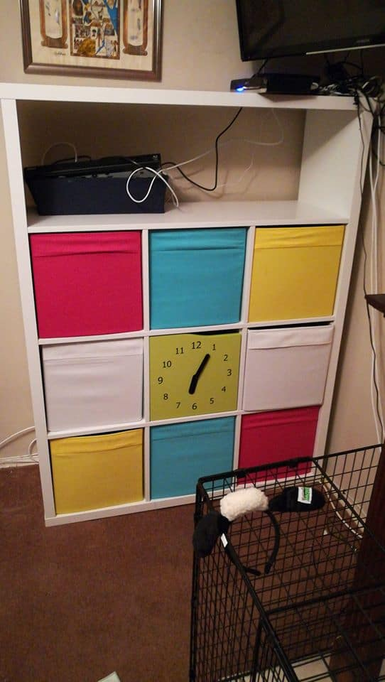 colorful toy storage cubes from ikea