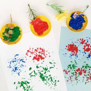 Painting with Artificial Flowers
