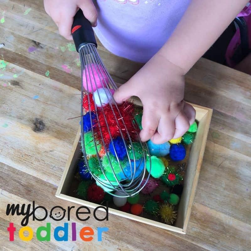 pom pom whisk toddler activity fine motor 2