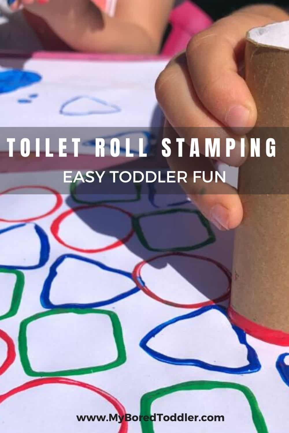 TOILET ROLL STAMPING EASY TODDLER FUN PINTEREST 2
