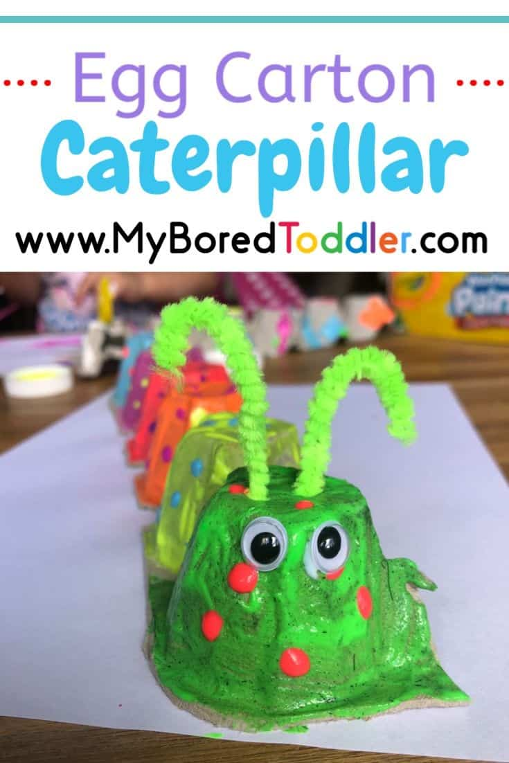 egg carton caterpillar craft for toddlers to make pinterest