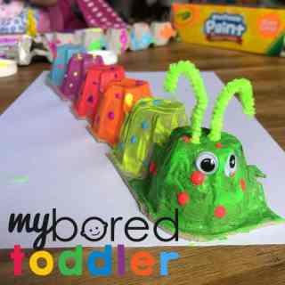 egg carton caterpillar painted final